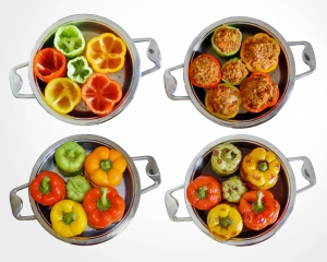 Healthy diet recipes stuffed peppers